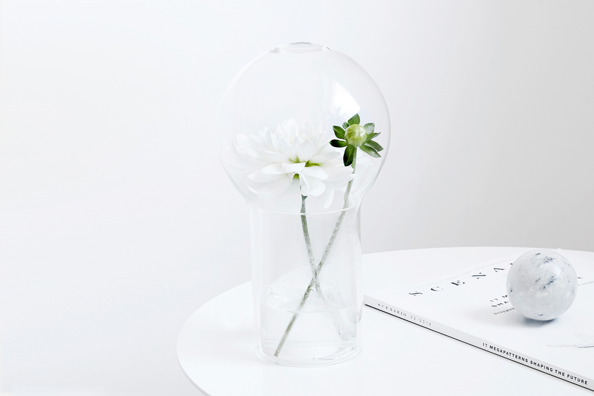 glass vase flower fragrance scent glass ball