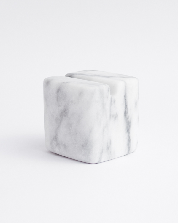 block marble tablet stand iPad black white marble