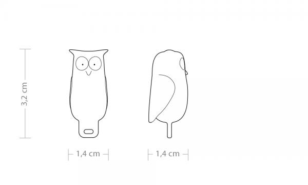 2D drawing line drawing owl bookmark